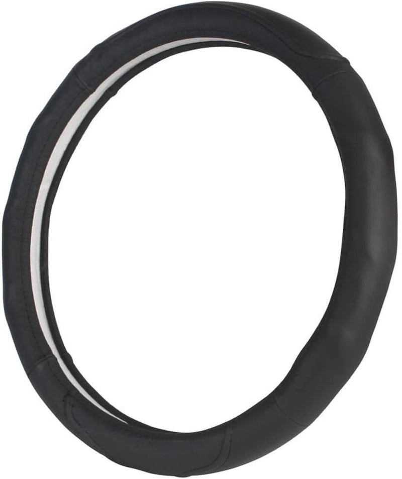 "Genuine Leather Steering Wheel Cover Universal 14.5""-15.5"" - LeadPro Inc"