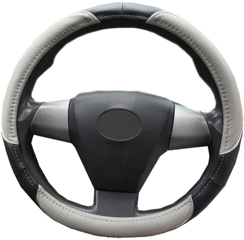 "Universal Faux Leather Steering Wheel Cover, fits 14.5"" - 15.5"" - LeadPro Inc"