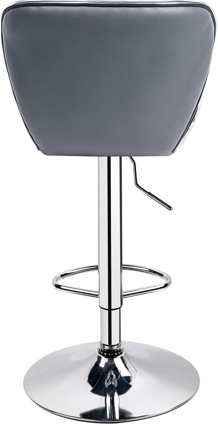 Outdoor Shell Back Adjustable Bar Stools  Set of 2  Grey