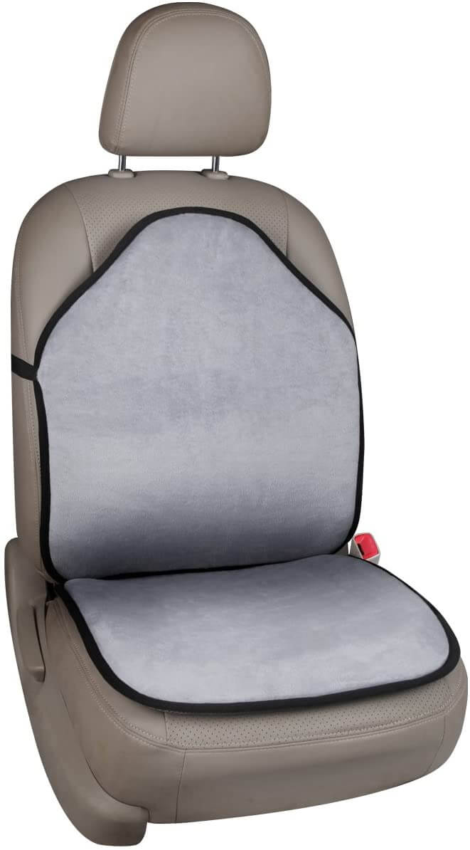 Universal Car Seat Covers Cushion Grey for Truck SUV Multi-Function Double Sides Front Seat Protector for Summer Winter