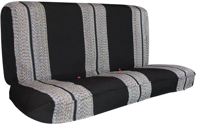 Saddle Blanket Full Size Pickup Truck Bench Seat Cover, Black, 1 Bench Cover - LeadPro Inc