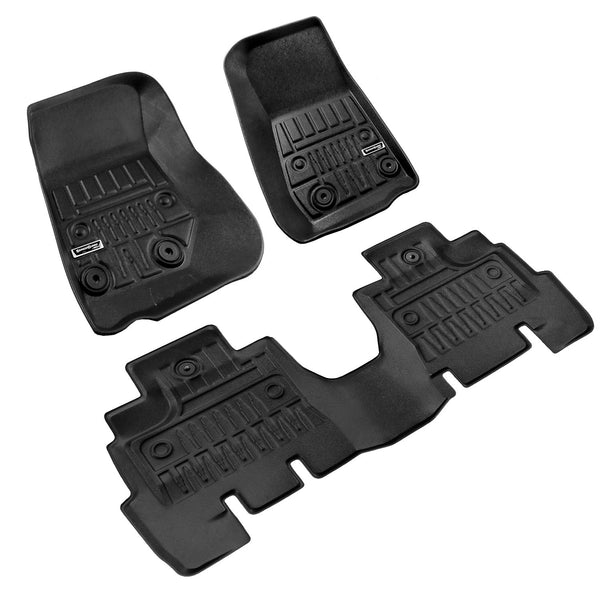 Season Guard 3D Floor Mat fits Jeep Wrangler JK 2011-2017  Front and Rear Seat 3pc - LeadPro Inc