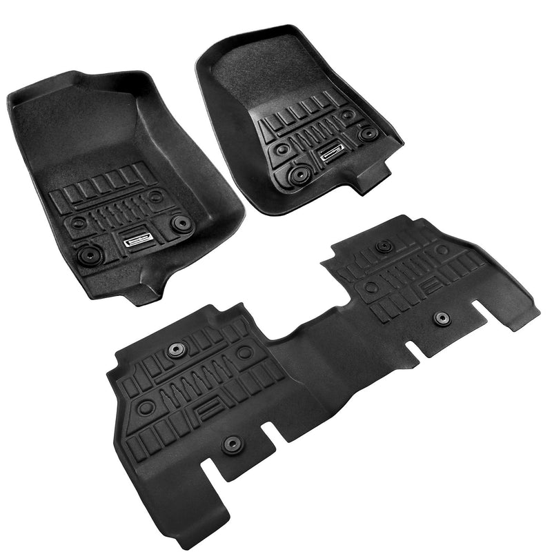Season Guard 3D Floor Mat fits Jeep Wrangler JL 2018-2019  Front and Rear Seat 3pc - LeadPro Inc