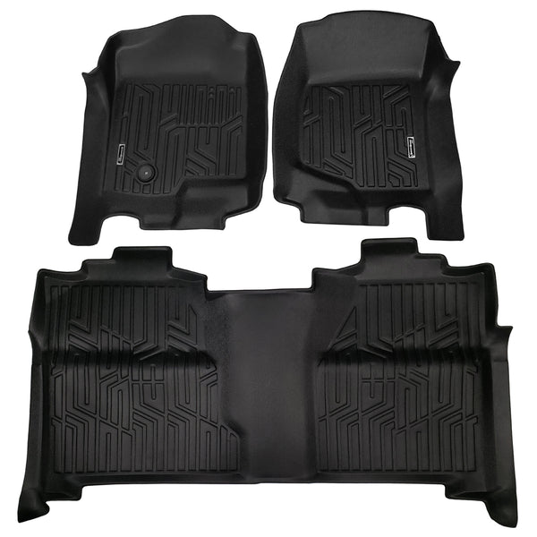 Season Guard Floor Mat fits Chevrolet Silverado 2007-2013 Front and Rear Seat 3pc