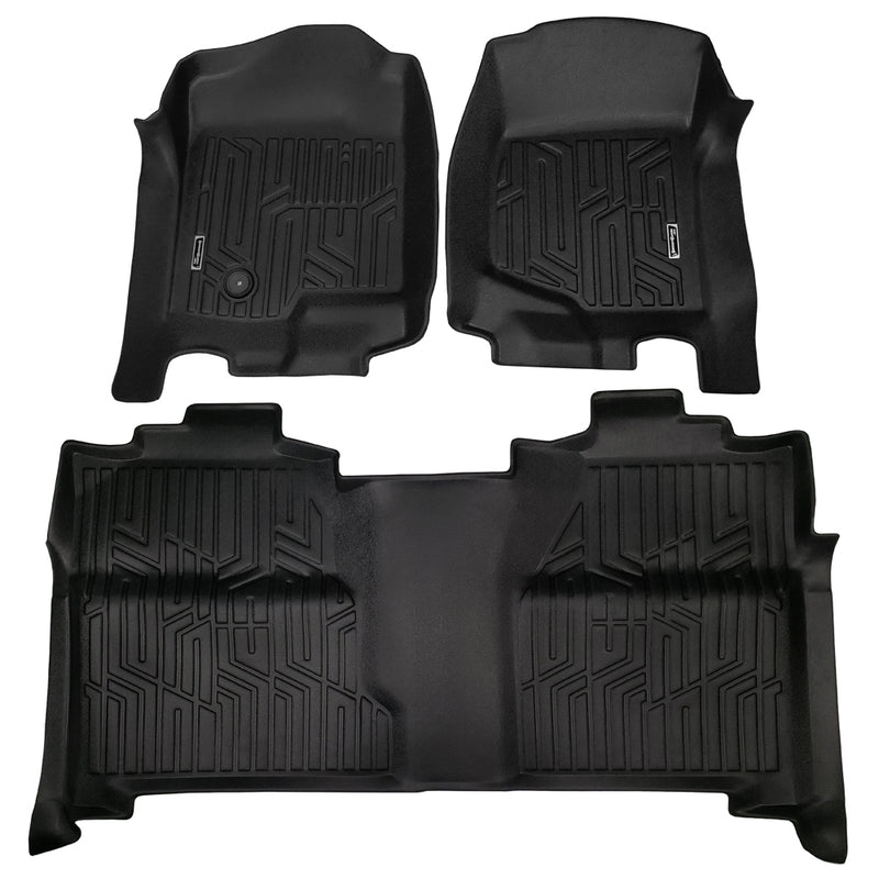 Season Guard Floor Mat fits Chevrolet Silverado 2007-2013 Front and Rear Seat 3pc - LeadPro Inc
