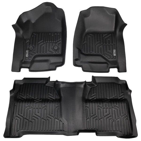 Season Guard Floor Mat fits Chevrolet Silverado 2014-2018 Front and Rear Seat 3pc