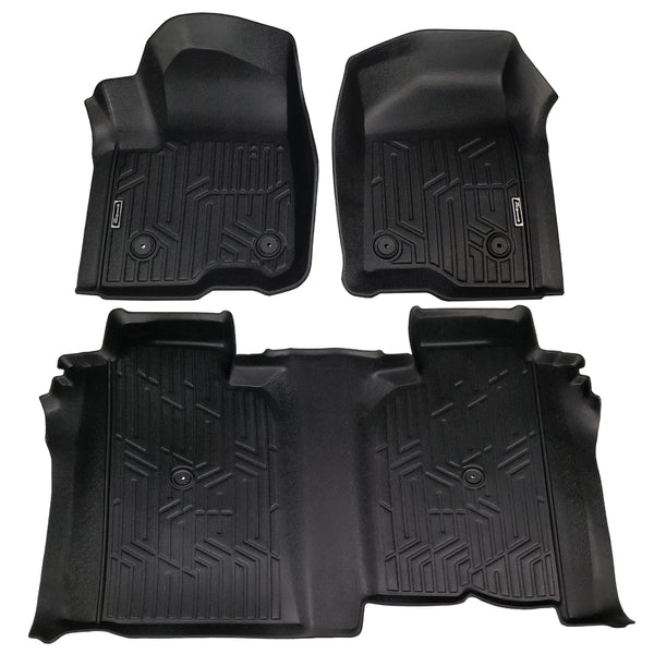 Season Guard Floor Mat fits Chevrolet Silverado 1500 2019  Front and Rear Seat 3pc