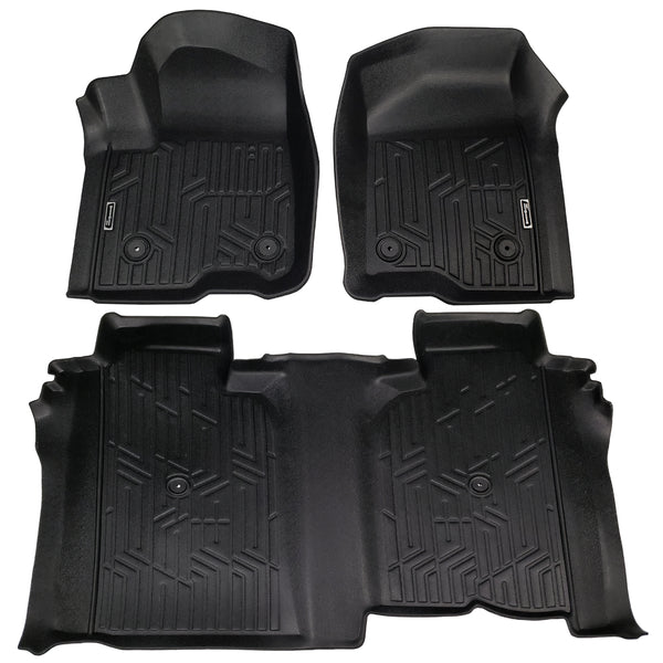 Season Guard Floor Mat fits GMC Sierra Denali 1500 2019 Front and Rear Seat 3pc