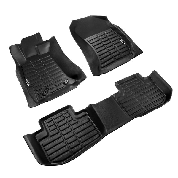Season Guard 3D Floor Mat fits Subaru Forester 2013-2018 Front and Rear Seat 3pc