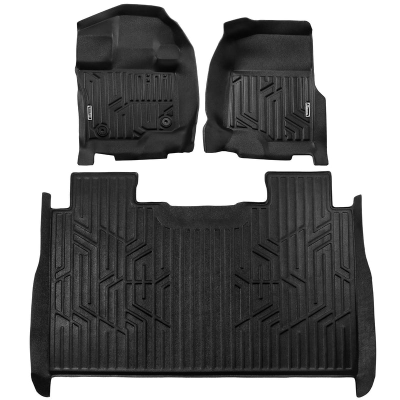 Season Guard 3D Floor Mat fits Ford F-150 Raptor 2015-2018  Front and Rear Seat 3pc - LeadPro Inc