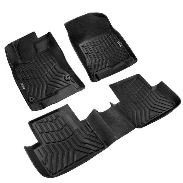 Season Guard 3D Floor Mat fits Honda Civic 2016-2019 Front and Rear Seat 3pc - LeadPro Inc