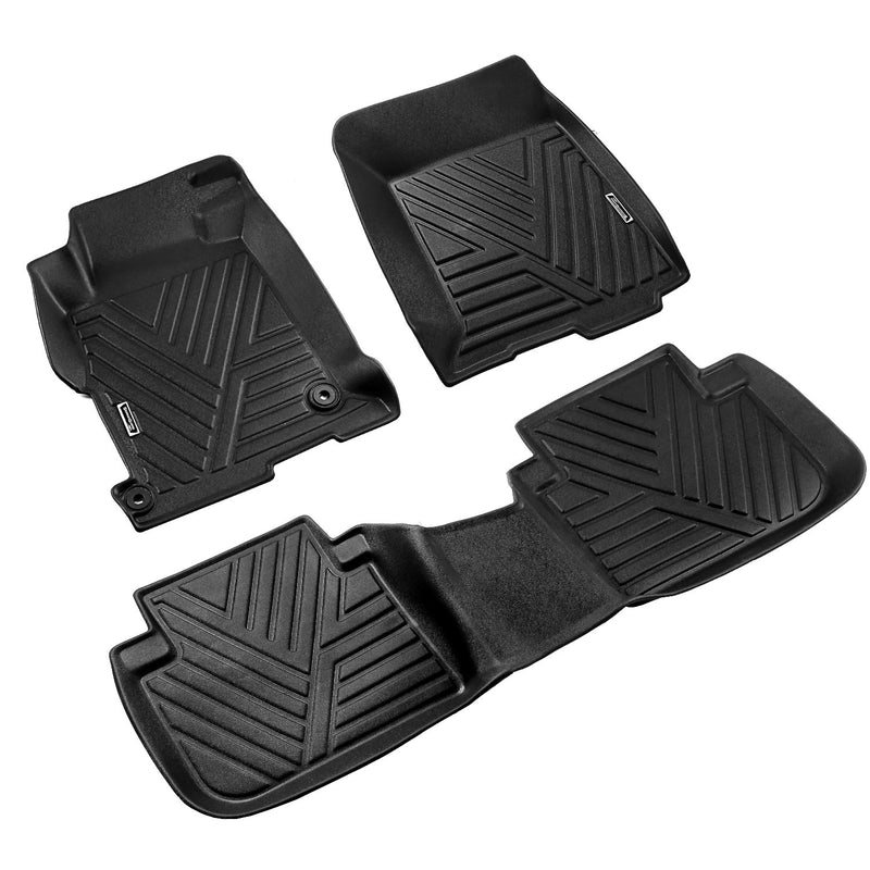 Season Guard 3D Floor Mat fits Honda Accord 2013-2017 Front and Rear Seat 3pc - LeadPro Inc