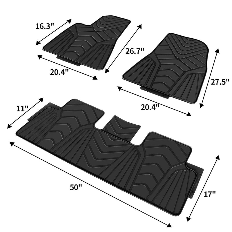 Tesla Model 3 Floor Mat Set - LeadPro Inc