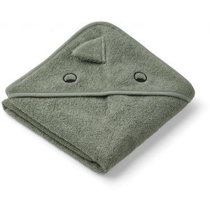 Liewood baby towel dino green - All About Kids Odense