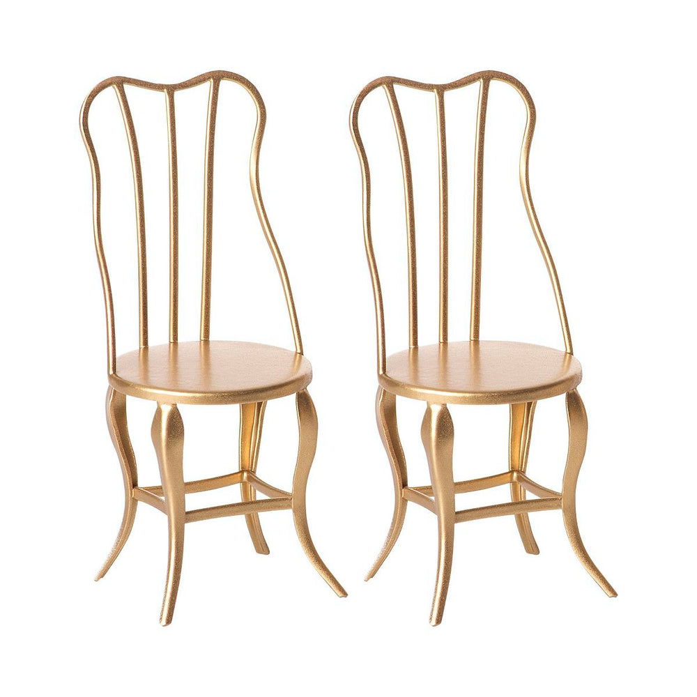 Maileg vintage chair micro 2 stk. Gold