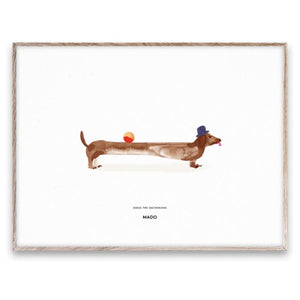 Mado poster 30x40 Doug the dachshund - All About Kids Odense