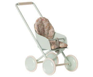 Load image into Gallery viewer, Maileg stroller micro Sky blue