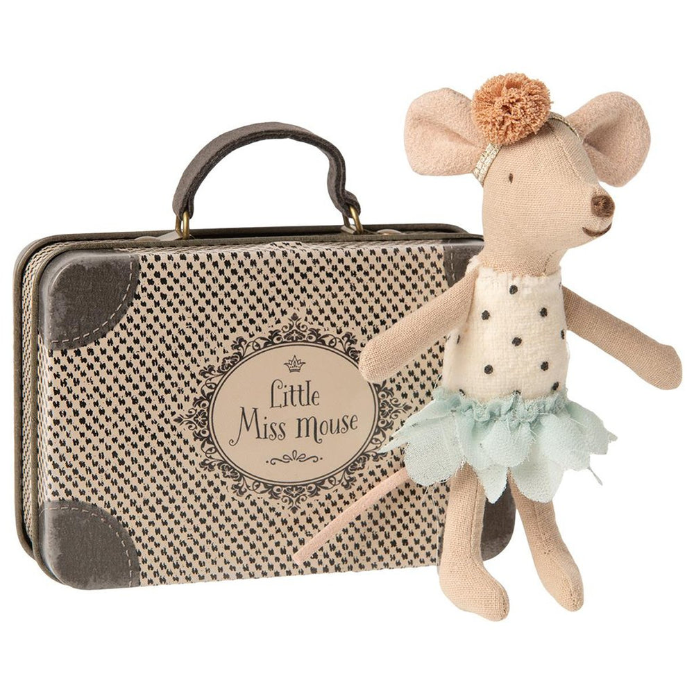 Maileg Little miss mouse in suitcase - All About Kids Odense