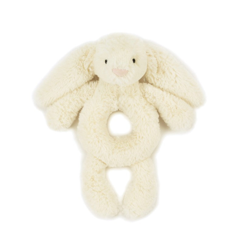 Jellycat Bashful kanin rangle, Creme