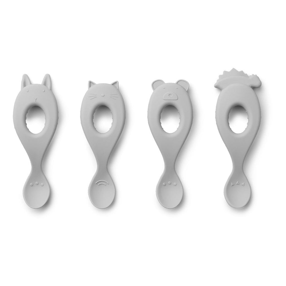 Liewood Liva silicone spoon Grey - All About Kids Odense