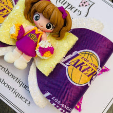 Load image into Gallery viewer, Lakers Girl Clay Bow