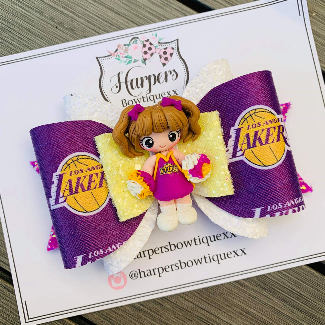 Lakers Girl Clay Bow