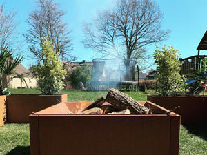 Bålsted CUBY Corten Fire.