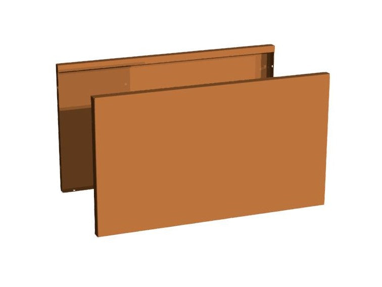 Sideplater CUBY Corten 70 x 40 cm.