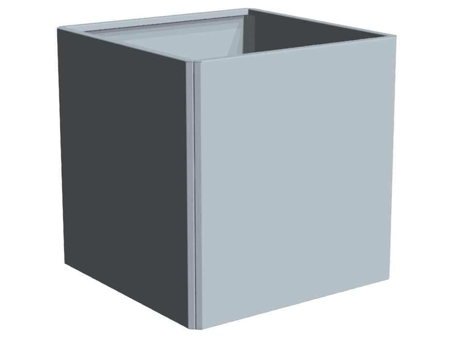 EDGY galvanized plant box in 80 cm. height