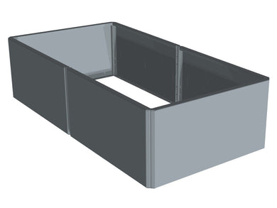 Raised bed EDGY Galva 157 x 80 x 40 cm.