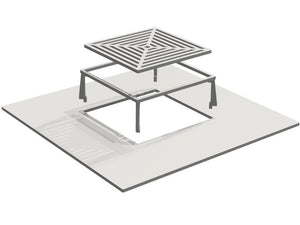Grill grate for campfire grill plate grill