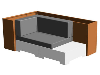 LAZY Lounge byJEMA module couch for the patio.