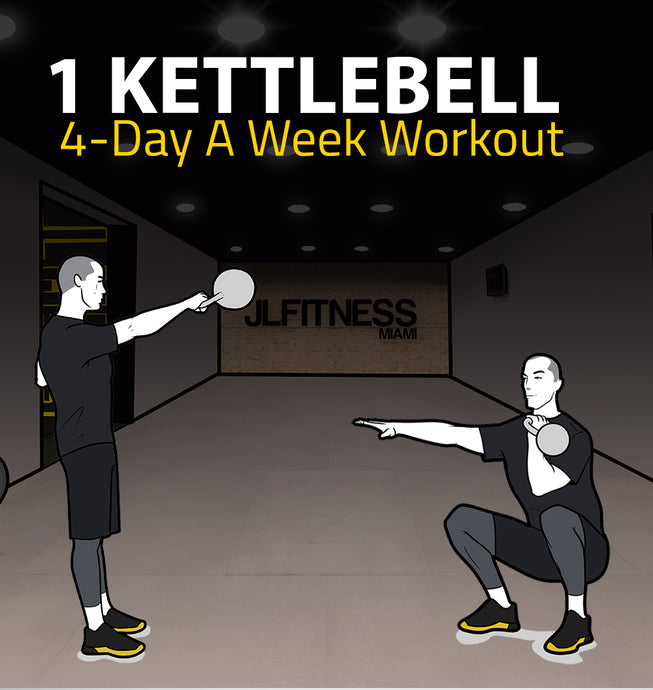 1 Kettlebell- 4 Day A Week Workout