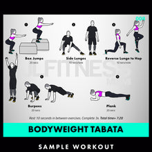 Load image into Gallery viewer, Tabata Madness- 50 Conditioning Workouts