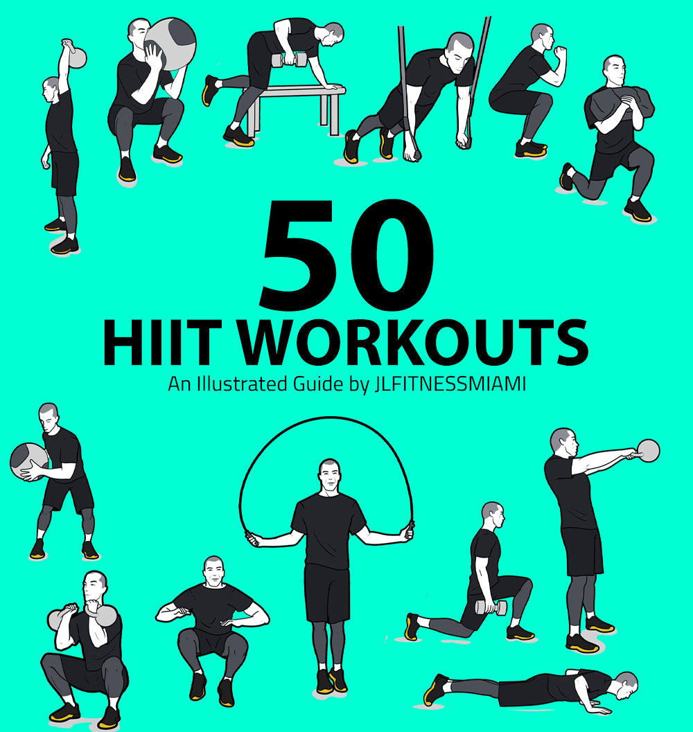 50 HIIT Workouts By JLTINESSMIAMI- Fat Loss Workouts