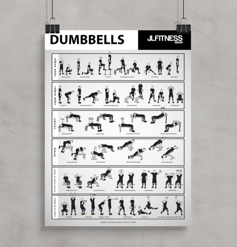 Dumbbell Training Poster 18'' x 24