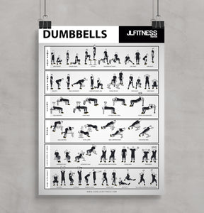 Dumbbell Training Poster 18'' x 24""