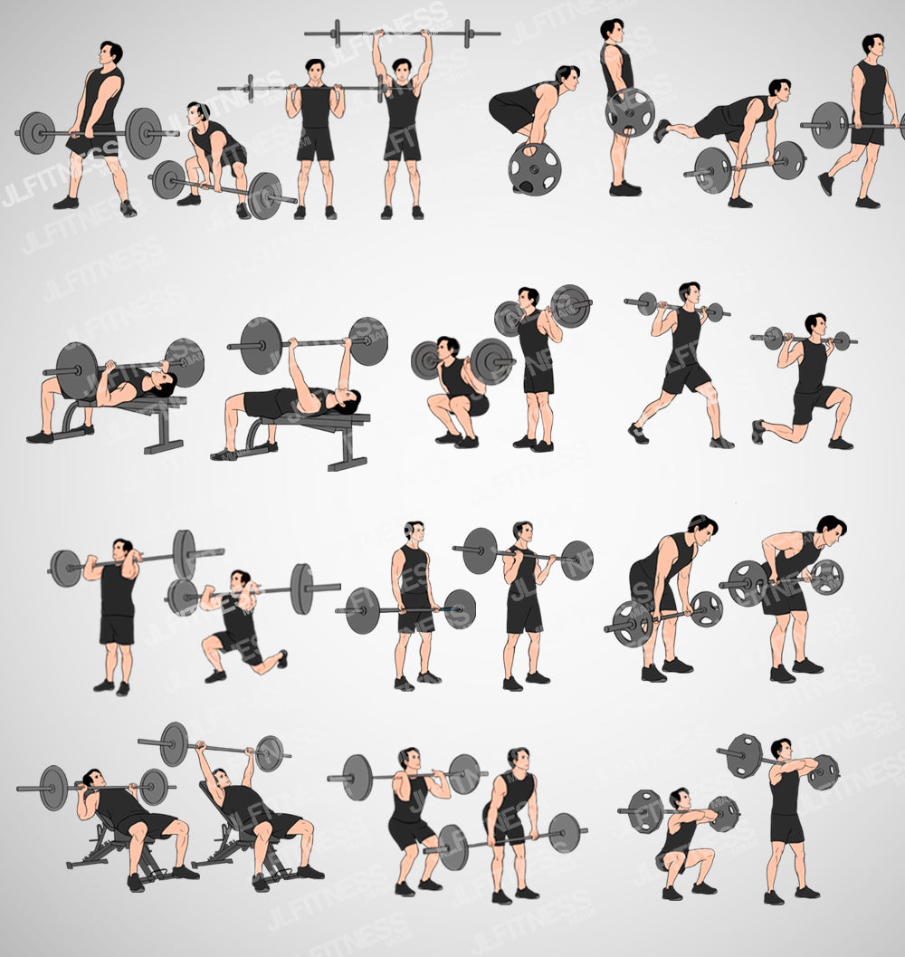 Fitness Illustrations Template Bundle- (Male) Version 1