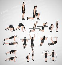 Load image into Gallery viewer, Fitness Illustrations Template Bundle- (Male) Version 1