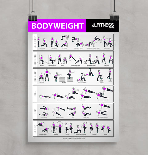 Female Bodyweight Exercises Poster