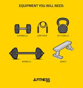 3-day week workout- equipment you will need