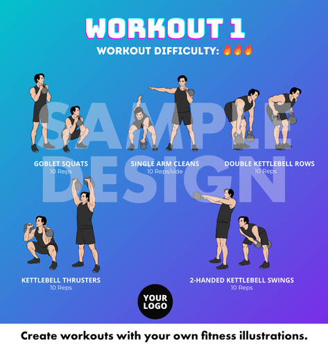 4 Workout Templates for Instagram