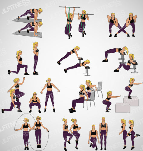 female fitness illustration- blonde woman