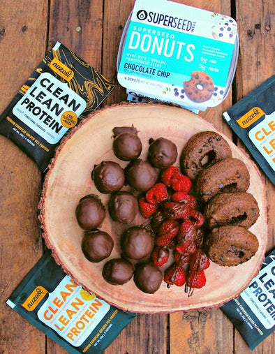 Vegan Chocolate-Coated Protein Ball Recipe, Developed by RDN CDE Whitney Stuart (gluten-free)