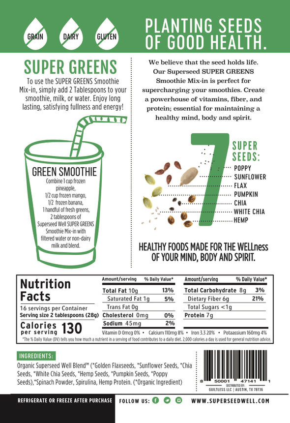 Superfood & Protein Smoothie Mix-In, Super Greens