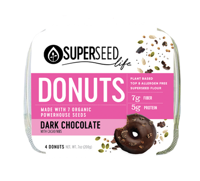 Dark Chocolate Donuts, 4 count (w/o cacao nibs)
