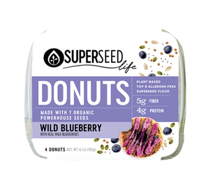 Wild Blueberry Donuts, 4 count