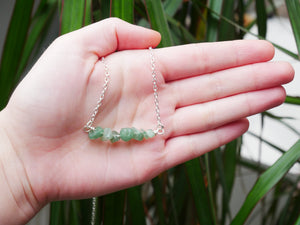 Green Adventurine Chip Necklace - Wandering Soul Jewellery