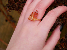 Load image into Gallery viewer, Orange Lemurian Seed Ring - Wandering Soul Jewellery