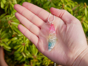 Rainbow Quartz Necklace - Wandering Soul Jewellery